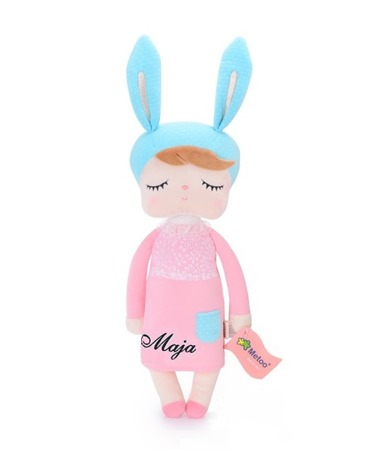 Lalka personalizowana uszatka w różowej sukience