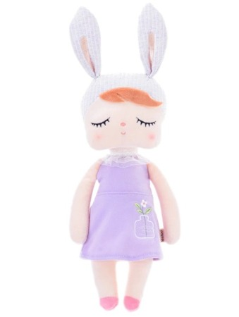 Metoo Angela Personalized Bunny Doll in Violet Dress