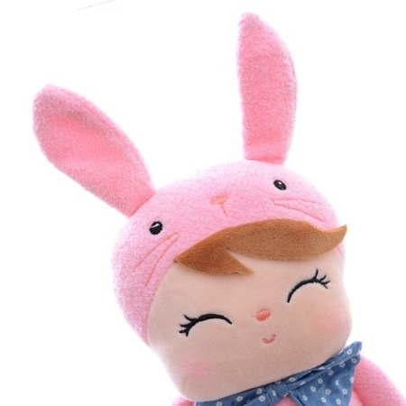 Metoo Personalized Angela Pink Bunny Doll with Gift Bag