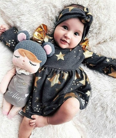 Metoo Angela Personalized Teddy Bear Doll with Gift Bag