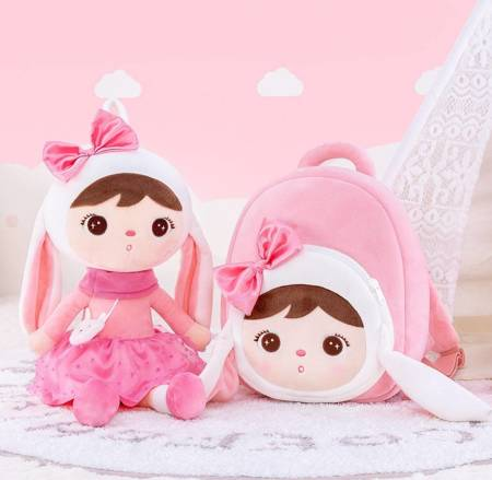 Metoo Bunny Doll with Bow Bacpack