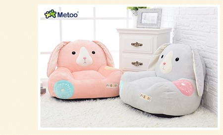 Metoo Personalized Blue Bunny Sofa Friends