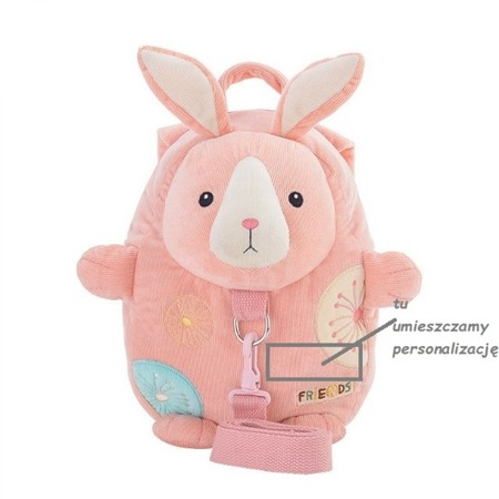 Metoo Personalized Pink Backpack Friends