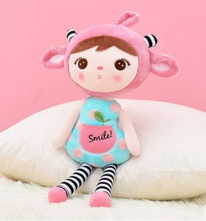 Metoo Personalized Pink Sheep Girl XL Doll 70 cm