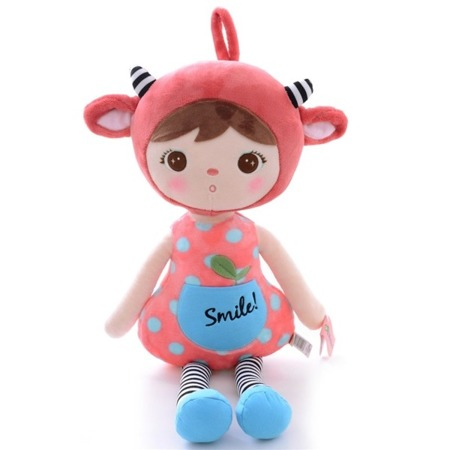 Metoo Personalized Red Sheep Girl Doll