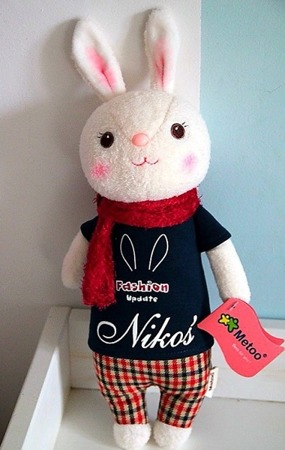Metoo Personalized Tiramisu Bunny Cuddly Boy