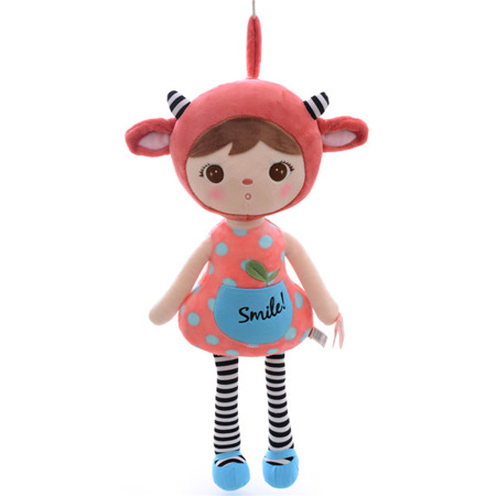 Metoo Red Sheep Girl Doll