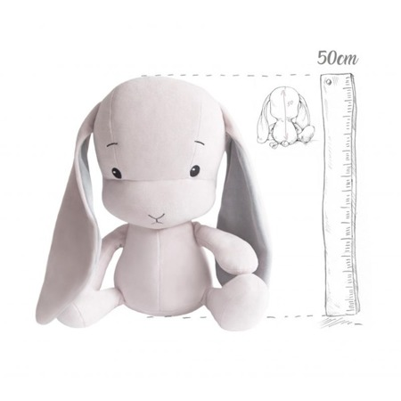 Personalized Bunny Effik L - Pink with Gray ears 50 cm