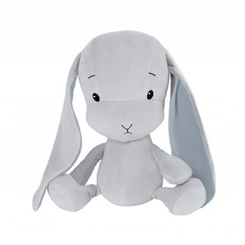 Personalized Bunny Effik S - Gray with Blue ears 20 cm