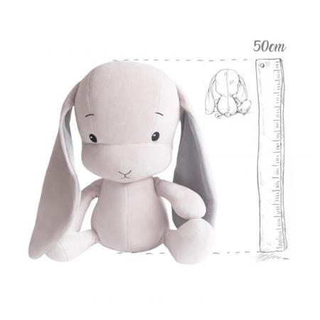 Effik Królik L personalizowany - Różowy z Szarymi uszami 50 cm