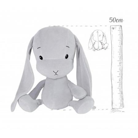 Effik Królik L personalizowany - Szary z Szarymi uszami 50 cm