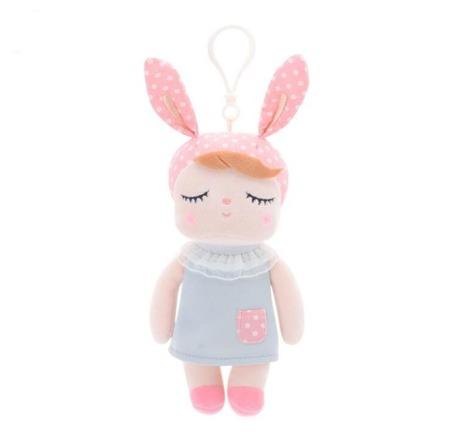 Lalka Metoo Personalizowana Mini Uszatka w Szarej Sukience