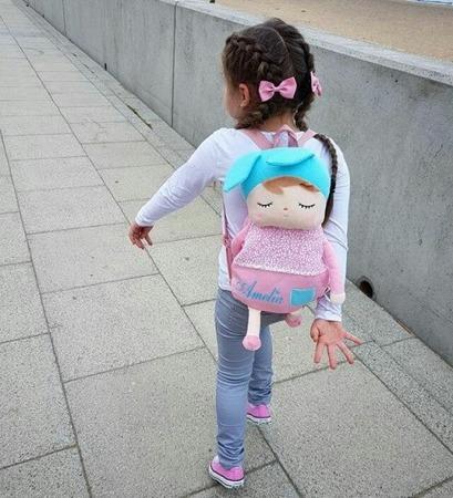 Plecak Metoo Personalizowany z Uszami Różowy